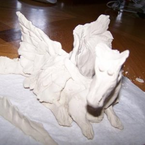 The clay dragon, took me 1 or 2 hours to make this. :roll: But it is good.